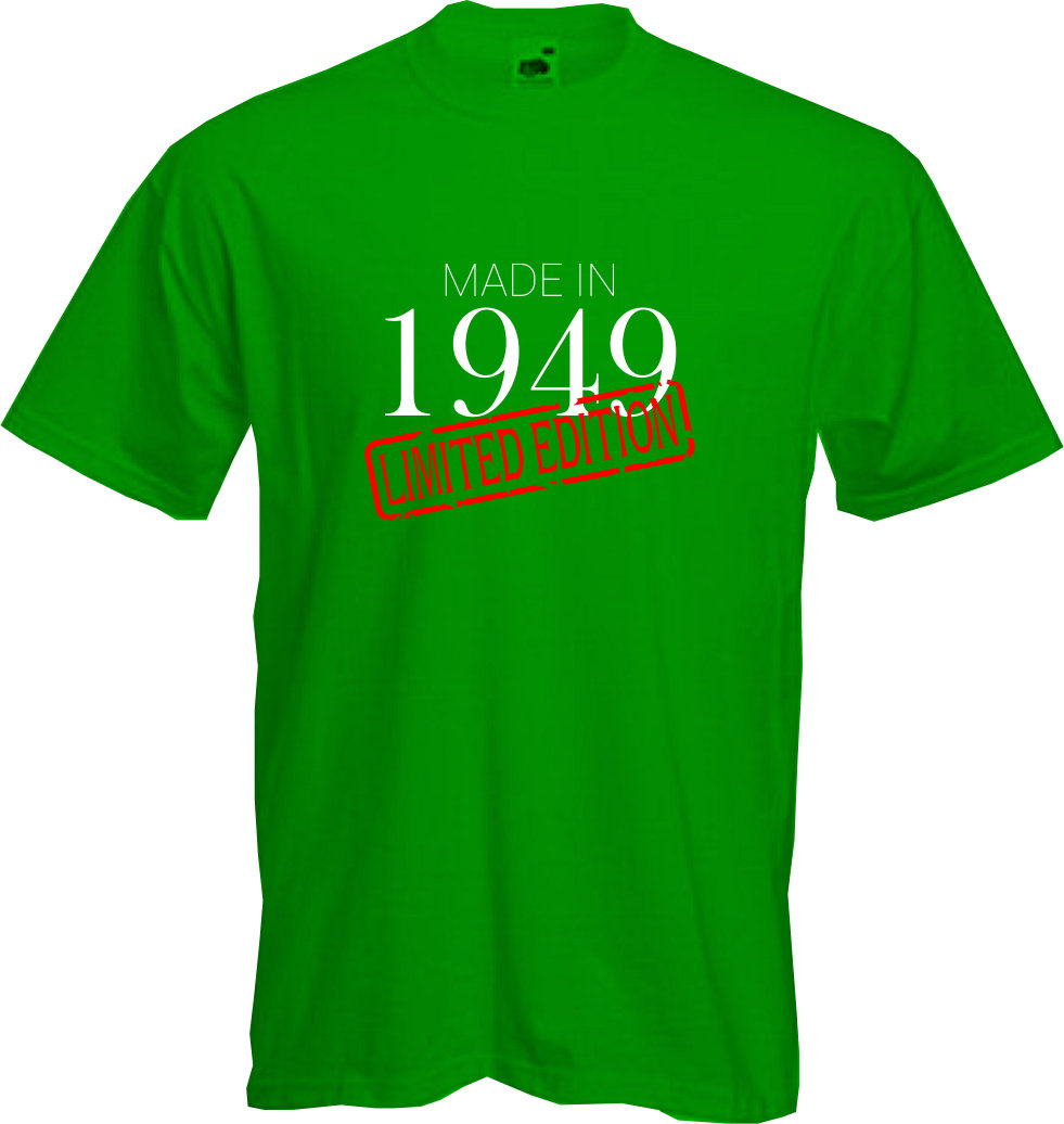 MADE-IN-LIMITED-1949-T-Shirt-70th-BIRTHDAY-2019-Fun-Present-Gift-NEW thumbnail 11