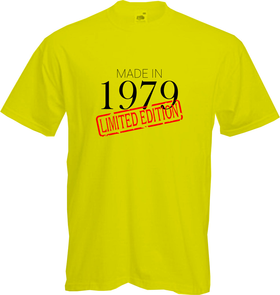 MADE-IN-LIMITED-1979-T-Shirt-40th-BIRTHDAY-2019-Fun-Present-Gift-NEW thumbnail 9