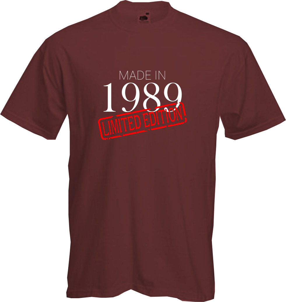 MADE-IN-LIMITED-1989-T-Shirt-30th-BIRTHDAY-2019-Fun-Present-Gift-NEW thumbnail 15