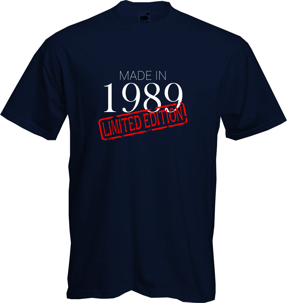 MADE-IN-LIMITED-1989-T-Shirt-30th-BIRTHDAY-2019-Fun-Present-Gift-NEW thumbnail 6