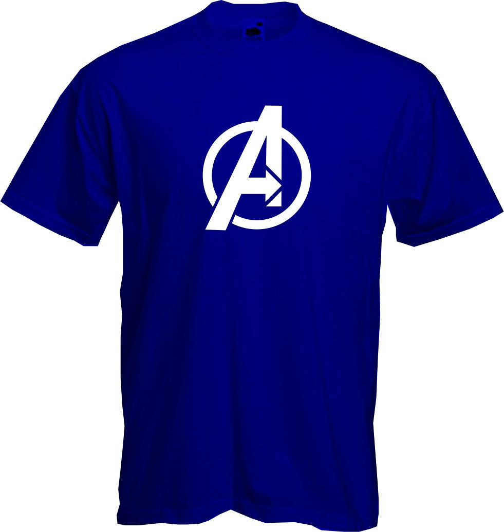 avengers logo t shirt marvel comic super heroes fun. Black Bedroom Furniture Sets. Home Design Ideas
