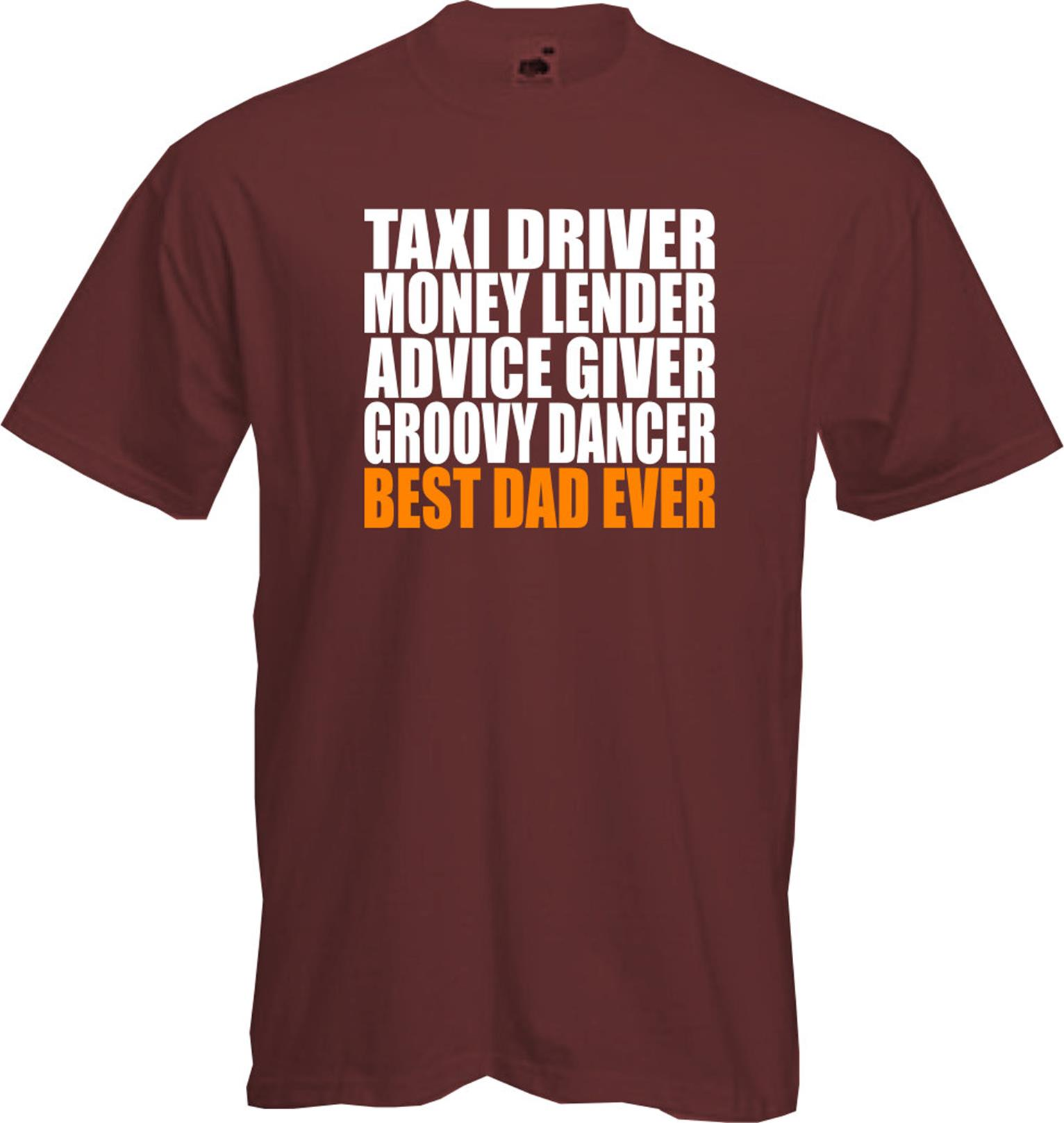 Best dad ever t shirt present fathers day custom for Best custom t shirt