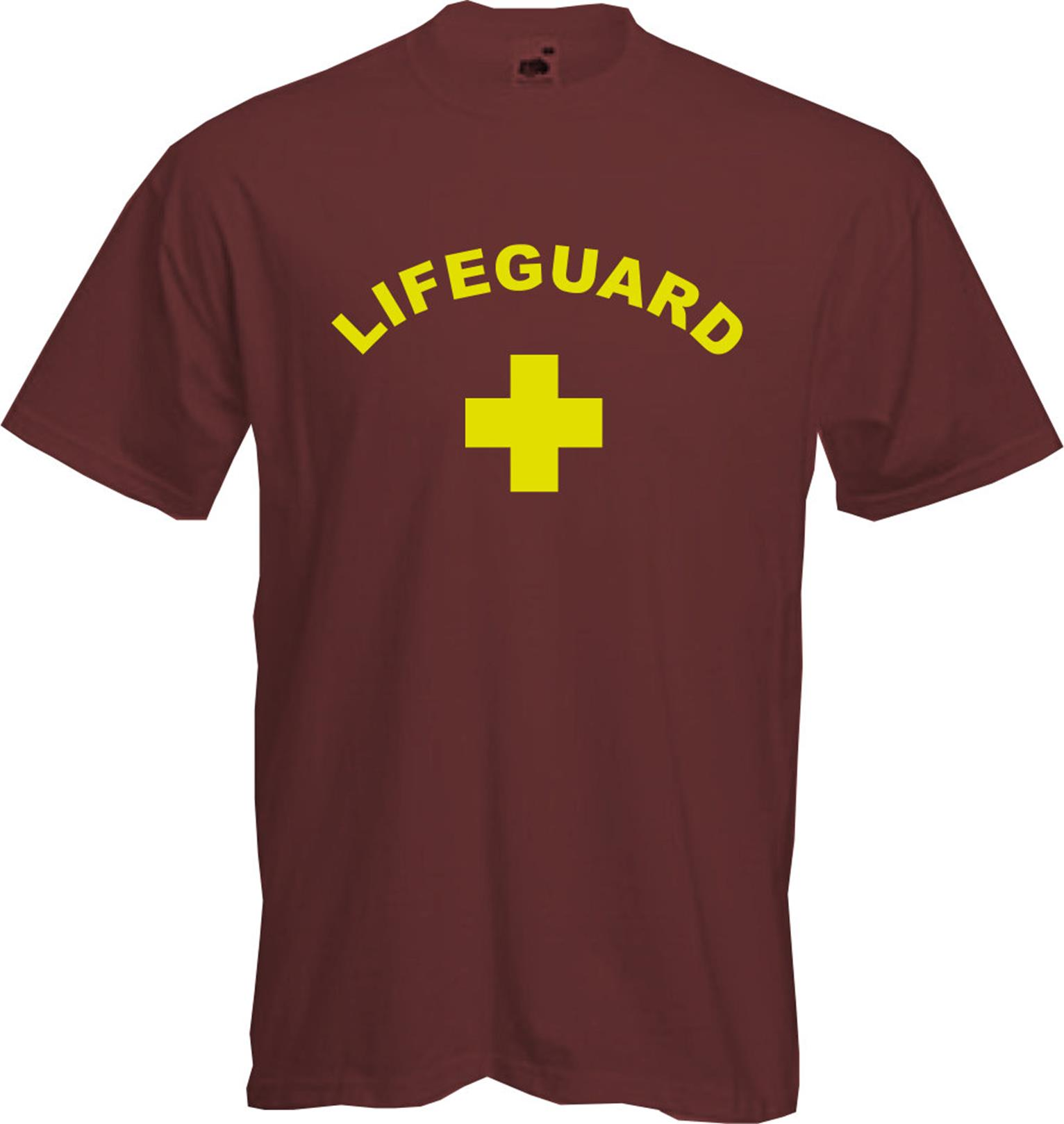 LIFEGUARD - T Shirt, SWIMMING, Fancy Dress, Baywatch, Fun, Cool ...