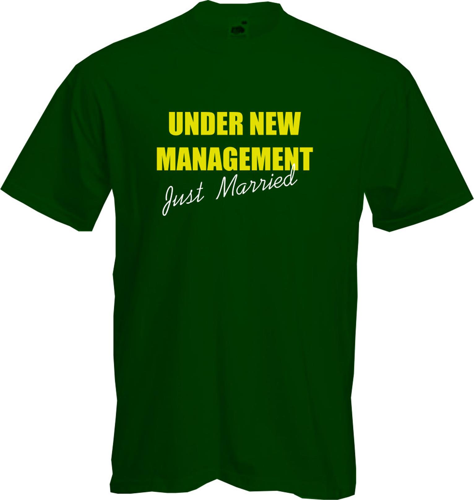 Honeymoon Clothes Gifts: UNDER NEW MANAGEMENT (Just Married)