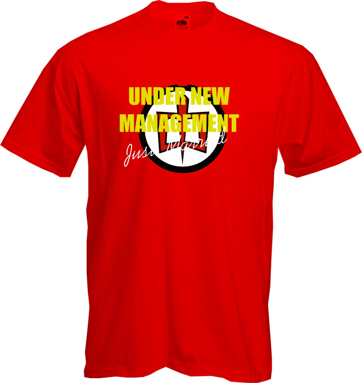 Under New Management Just Married T Shirt Wedding