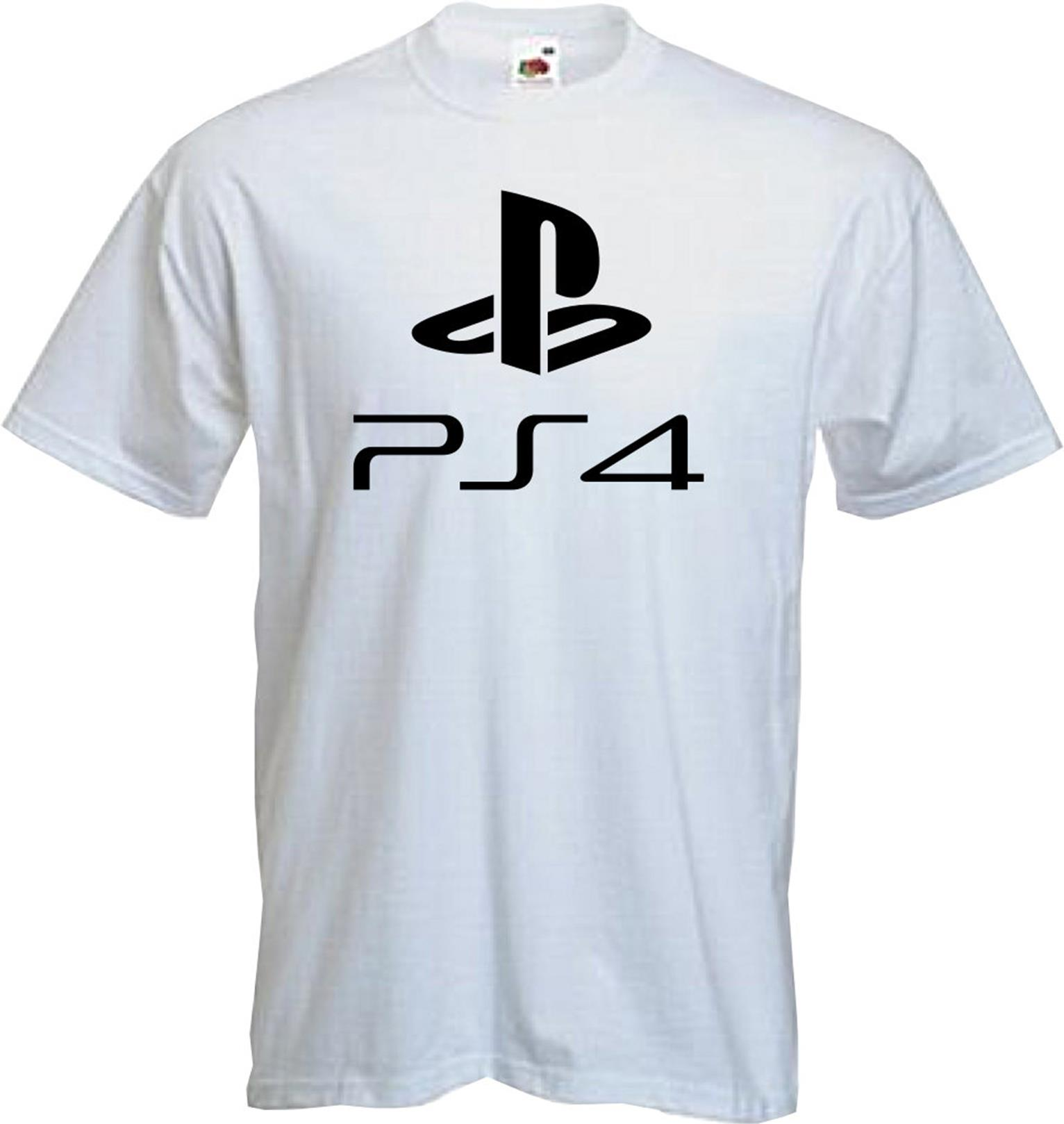 Ps4 playstion 4 t shirt logo gaming present fun for T shirt with logo