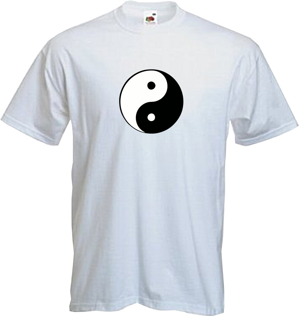 YIN YANG T Shirt Chinese Dark Light Retro