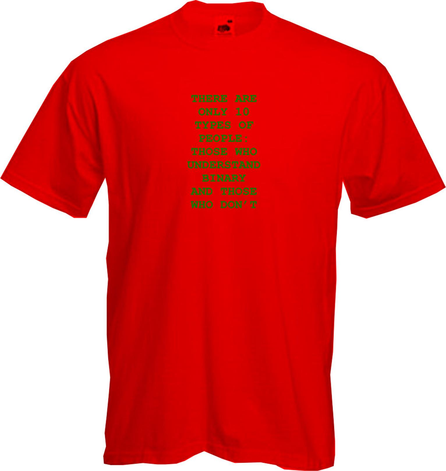 Fun Geek Quality Maths 10 TYPES OF PEOPLE BINARY CLEVER T Shirt NEW