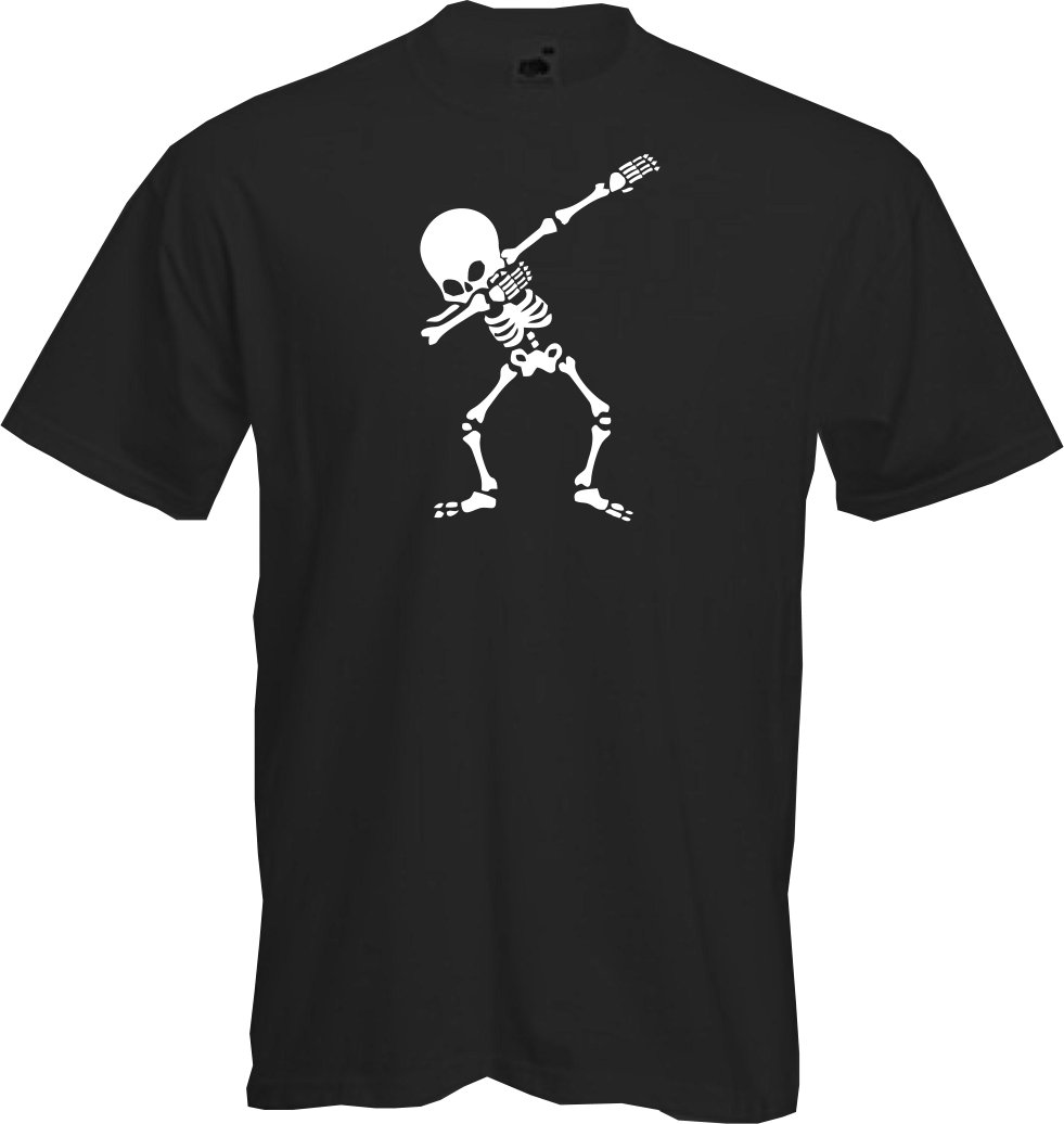 5e20542b Details about Dabbing Skeleton- T Shirt, Halloween, Fun, Dab , Party ghoul