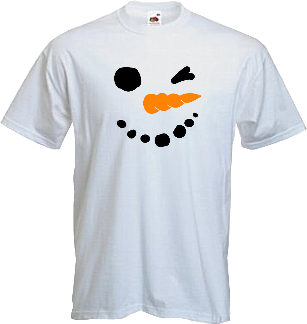 1fc17afcf Details about SNOWMAN - T Shirt, Christmas, fun, santa , snow , walking in  the air