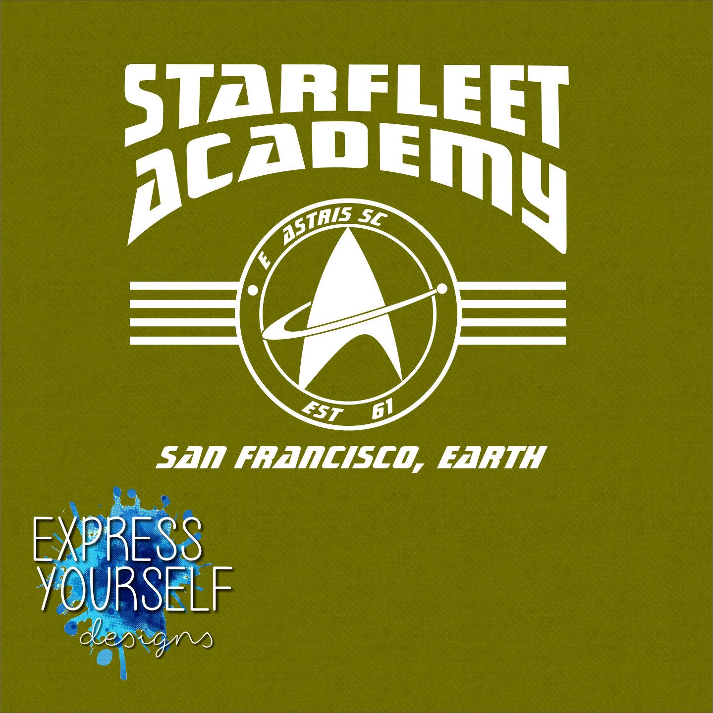 starfleet academy t shirt star trek trekkie geek fun